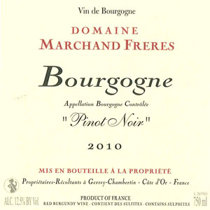 Bourgogne Pinot Noir - Domaine Marchand Frères Gevrey Chambertin