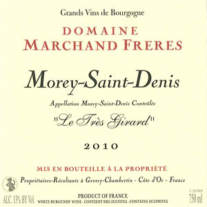 Morey Saint Denis Le Très Girard - Domaine Marchand Frères Gevrey Chambertin